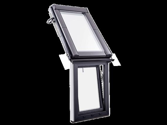 Designo R1 térdfal ablak fa/műanyag WFA R1 h/k