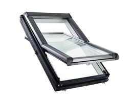 Roto Designo R45 Billenő tetőtéri ablak, műanyagból, alsó kilinccsel és 2-rétegű üveggel