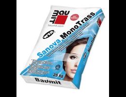 Baumit Sanova MonoTras egyrétegű szálerősített fehér trassz vakolat