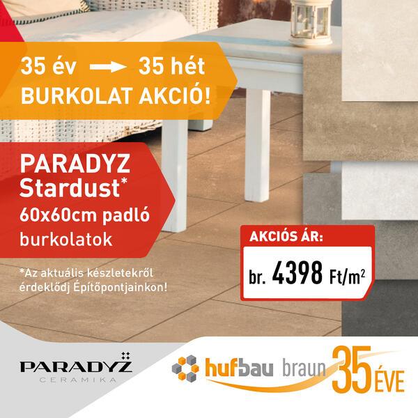 Paradyz Stardust 60x60 cm padlólap