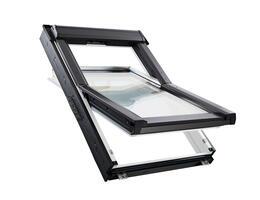 Roto Q-4 H2S P5 billenő Műanyag tetőtéri ablak, felső kilinccsel és 2-rétegű üveggel, gyárilag előszerelt Hősigetelő Csomaggal