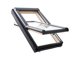 Roto Designo R45 Billenő tetőtéri ablak, fából, alsó kilinccsel és 2-rétegű üveggel