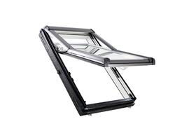Roto Designo R79 felső harmadban billenő tetőtéri ablak, műanyagból alsó kilinccsel és 3-rétegű üveggel natúr fa színű (R79 K WD)